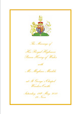 Harry and Megan Wedding Order of Service. PDF File Official