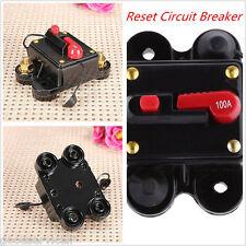 12v/24v 100 Amp Manual Reset Circuit Breaker Car Auto Boat Audio Fuse Holder