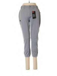 New Women Under Armour Baseball Softball Athletic Gray Pants Size XS