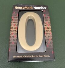 "Gaines HouseMark 4"" House Number 0 (zero) Address Satin Brass Gold Plaque"
