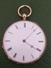 Belle montre à gousset or en or. 18K. cylindre huit rubis. 43 gr.