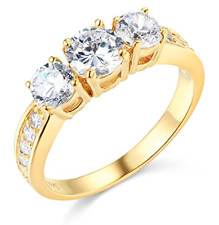 dfef715dfdb13 Past Present Future Ring In Diamond Engagement Rings for sale | eBay