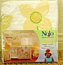 Bright Blossoms NoJo Window Valance Flower Floral Butterfly Garden Yellow