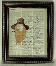 LOTR Inspired Dictionary Print Art Lot with Gandalf Quote Lord Rings