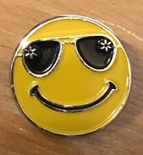 Rare Walmart Lapel Pin Smiley Shades Happy To Help Promo Wal-mart Pinback