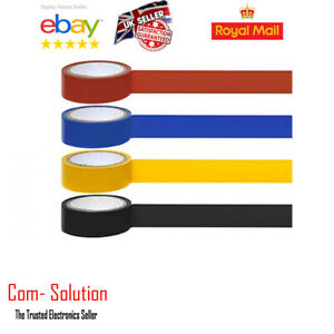 New 4 Pack Rolls PVC Insulation Electrical 5m Tape Assorted Colour Home Car Work