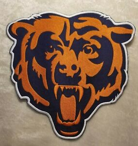 """Chicago Bears HUGE 8"""" Jacket Size Iron/Sew On Embroidered Patch ~FREE Ship!"""