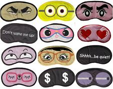 Novelty eye mask slogan Travel black blindfold funny naughty sleepover fun