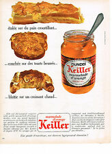 PUBLICITE ADVERTISING  1969   KEILLER  DUNDEE   marmelade d'orange confiture