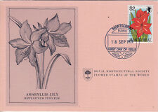 First Day Cover: MONTSERRET 1978 Royal Horticultural Society Flower Stamp!