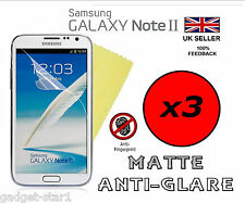 3x HQ MATTE ANTI GLARE SCREEN PROTECTOR COVER FOR SAMSUNG GALAXY NOTE 2 II N7100
