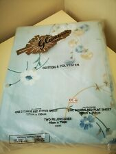 Glamour Vintage 70's double flat sheet, fitted sheet & 2 pillowcases New.