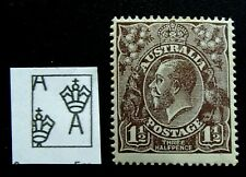 1919 KGV Three Halfpence Red-Brown MUH - Perf 14 Large Multiple - SG 52 - 53