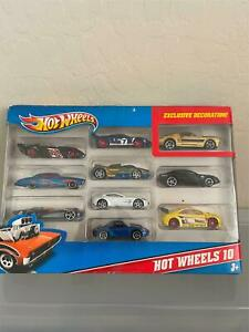 Hot Wheels 10 Pack Exclusive Decoration with Shelby GT500 Gold A3