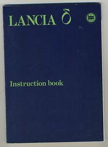 (39B) LANCIA DELTA  Instruction book 1980 + 2 supplements