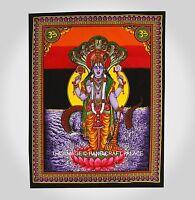 Indian Lord Vishnu Printed Hanging Tapestry Wall Decor Poster Cotton Bohemian