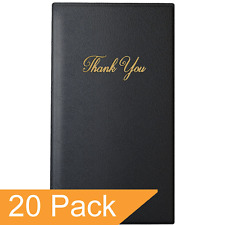 """Restaurant Check Presenters - Guest Check Card Holder with Gold Thank You - 5.5"""""""
