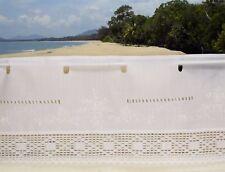 B78: Bistrogardine 30/150cm weiß Stickerei mit Häkelspitze Kurzgardine Panneaux
