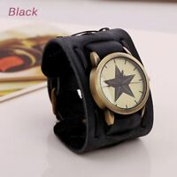Available Vintage Wide Band Watches Strap Leather Watch Bracelet Wristwatch