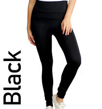 Ladies Thermal Leggings Thick Winter Fleece Lined  High Waist Tummy Control 6-22