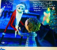 Chris Sarandon signed Jack Skellington 16x20 METALLIC photo BAS COA WA04757
