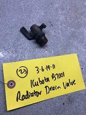 Kubota B7001 Tractor Brass Radiator Drain Valve, Works Fine