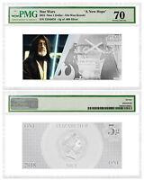 DEAL Star Wars New Hope Obi-Wan Kenobi Foil Note 5 g Silver PMG GEM 70 SKU52863