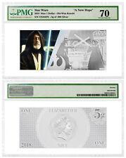 2018 Star Wars New Hope Obi-Wan Kenobi Foil Note 5 g Silver PMG GEM 70 SKU52863