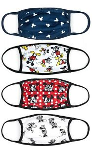 Disney Store Re-useable Face Covering Mask Mickey Minnie 4Pack Small Large Extra