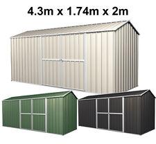 Garden Shed 4.3m Wide x1.7m Deep x 2.05mHigh Premium Steel Storage