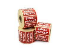 1,000 - 'SMALL PACKET' Labels on a roll. 50mm x 25mm. Shipping Labels / Stickers