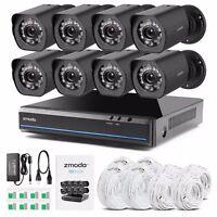 Zmodo 8CH NVR Video Sicherheitssystem 8 PoE 720p HD Außen Überwachungskamera SET