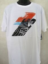 New Fox Racing Glaucus Optic White Tee T Shirt Large #21-14