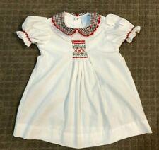 Toddler Girl Remember Nguyen White Smocked Christmas Dress Size 3t