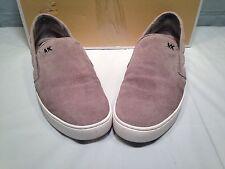 Michael Kors Keaton Quilted Sneakers Pearl Grey 7.5M Org Retail 120.00
