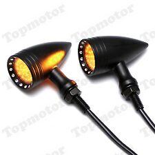 Black 20 LED Brake Turn Signal Indicator Light For Harley Dyna Sportster Bobber
