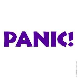Panic Decal Sticker Choose Color + Size #1540