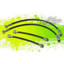 PERFORMANCE STAINLESS PVC BRAIDED BRAKE LINE FOR 79-82 HONDA PRELUDE EK BLACK