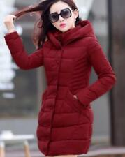 Hot Womens Winter Warm Slim Hooded Long Padded Jacket Cotton Trench Coat Parkas