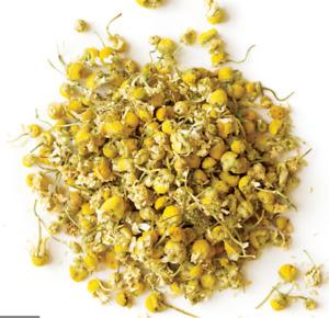Organic Chamomile Flowers Herbal Tea Whole Loose Leaf Gluten Free Non GMO 4OZ