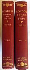 Vintage 1901 Historic and Social by Claude De La Roche Francis 2 Vol.