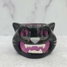 2011 Bath & Body Works Slatkin Black Cat Halloween Tealight Candleholder