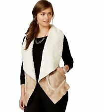 New $90 AMERICAN RAG Womens Plus Size 2X Faux-Shearling Vest Sleeveless Jacket