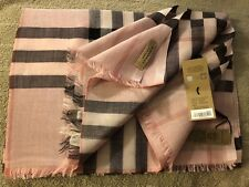 Burberry Check Scarf - Ash Rose - Brand New!