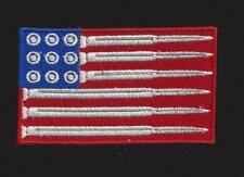 USA FLAG BULLETS ROUNDS HAT PATCH US ARMY MARINES NAVY AIR FORCE VET GUN RIFLE