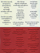 unmounted Religious rubber stamps Favorite Bible Verses  8 images