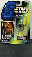 STAR WARS POWER OF THE FORCE ASP-7 DROID Hologram Green Card (Kenner 1996) POTF