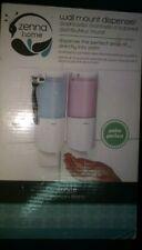 Zenna Home Bath Shower Wall Mount Soap / Lotion / Body Wash Dispenser NEW White