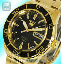 SEIKO 5 SPORTS MEN'S AUTOMATIC DIVERS STYLE GOLD TONE SNZH60K1 SNZH60