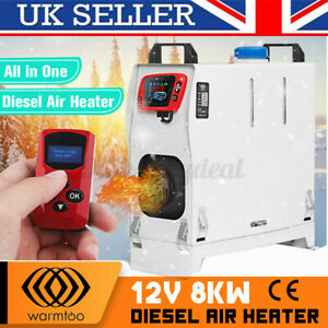8KW Diesel Air Heater Car Parking Heater LCD Thermosta Remote Trucks Boats Car